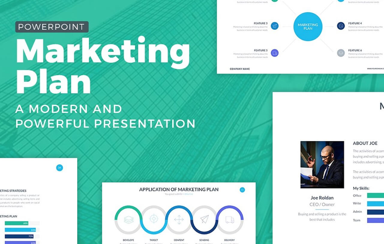 Marketing Plan Powerpoint Template -min