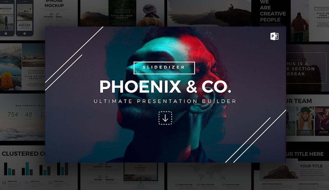 Phoenix Minimal PowerPoint Template -min