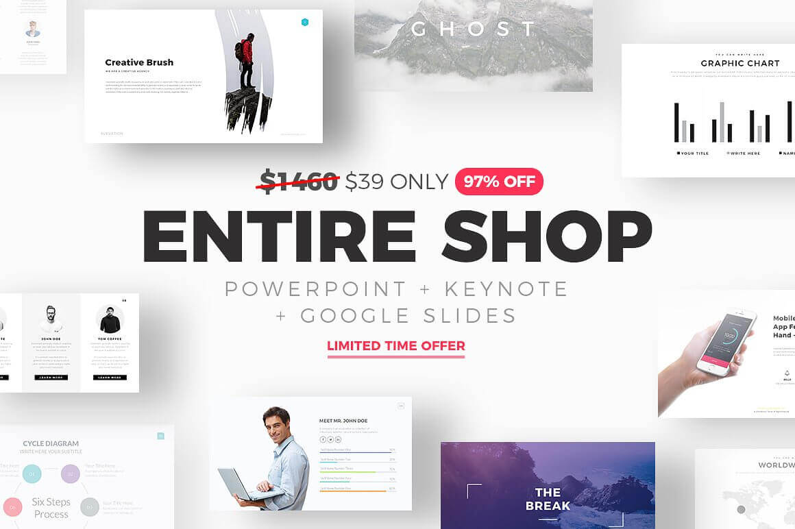 Entire Shop Slide Pro PowerPoint and Keynote Templates