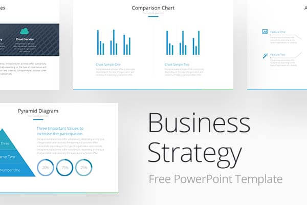 Business strategy free powerpoint template ppt pptx toneelgroepblik Choice Image