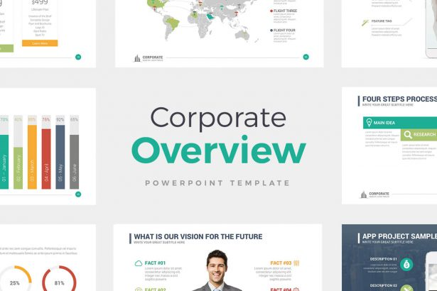 best free powerpoint templates - google slides - Corporate Overview PowerPoint Templates