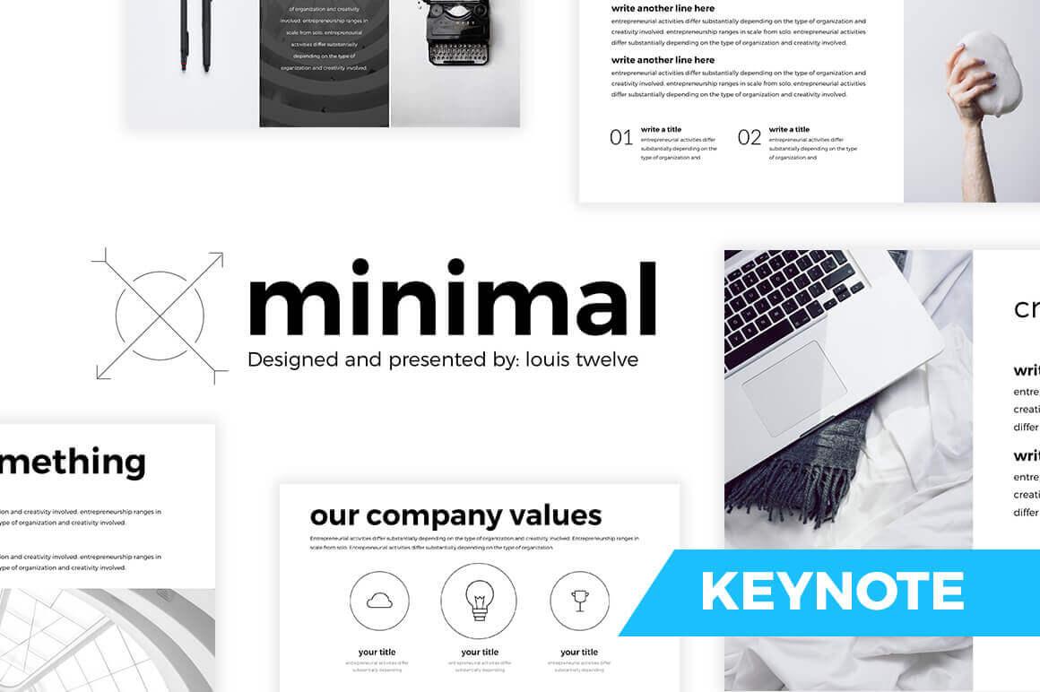 Free Minimal Keynote Template