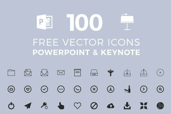 100 free vector icons for your presentation in powerpoint and apple