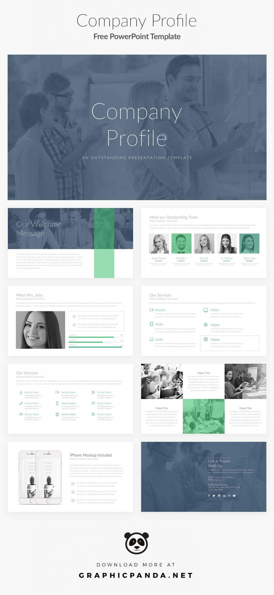 Company Profile Free Powerpoint Presentation Template