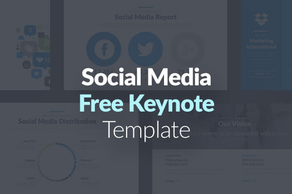10 Free Keynote Slides Templates for Apple Keynote - Social Media Strategy