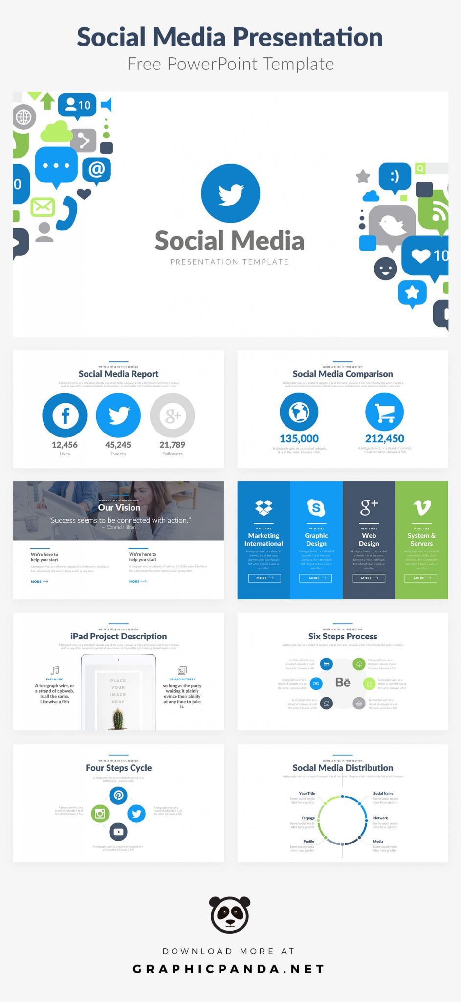 Free Social Media Powerpoint Templates