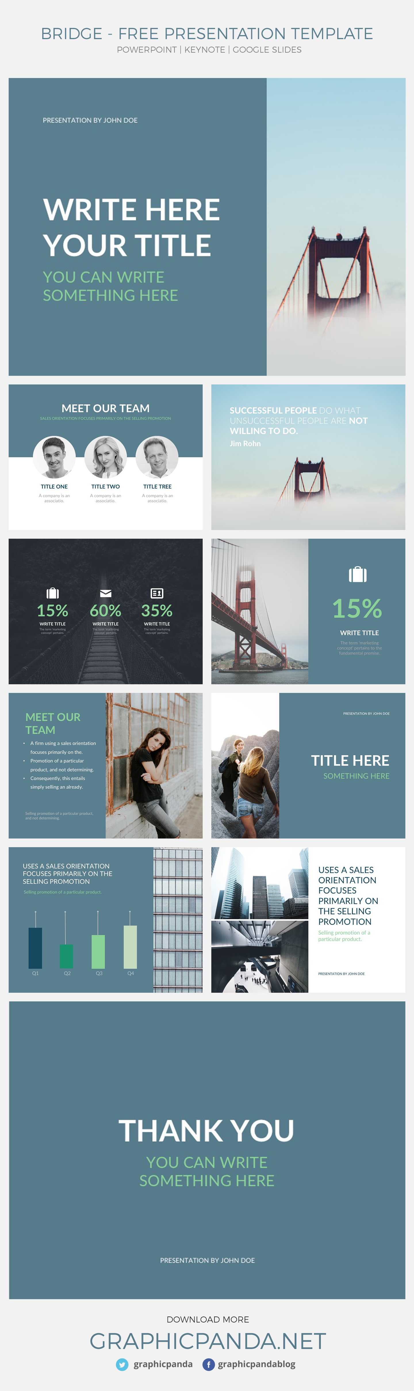 Presentation templates for Google Slides, Powerpoint, or Apple Keynote are becoming more common in today's world. The reason being they simplify and save many people lots of time. Also, templates help people out when they do not know what to design in their presentation. Presentation templates strategically form layouts that you can input your information to. Or get ideas of what to put in the unique and professional layouts.