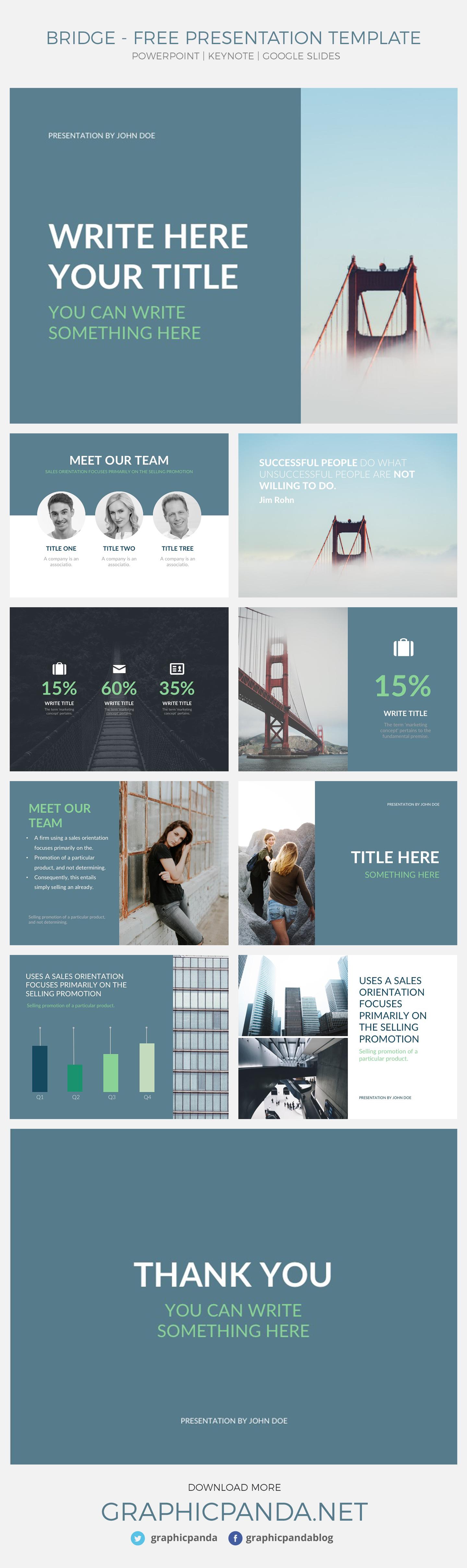 Bridge Presentation Template - Powerpoint, Keynote, Google Slides