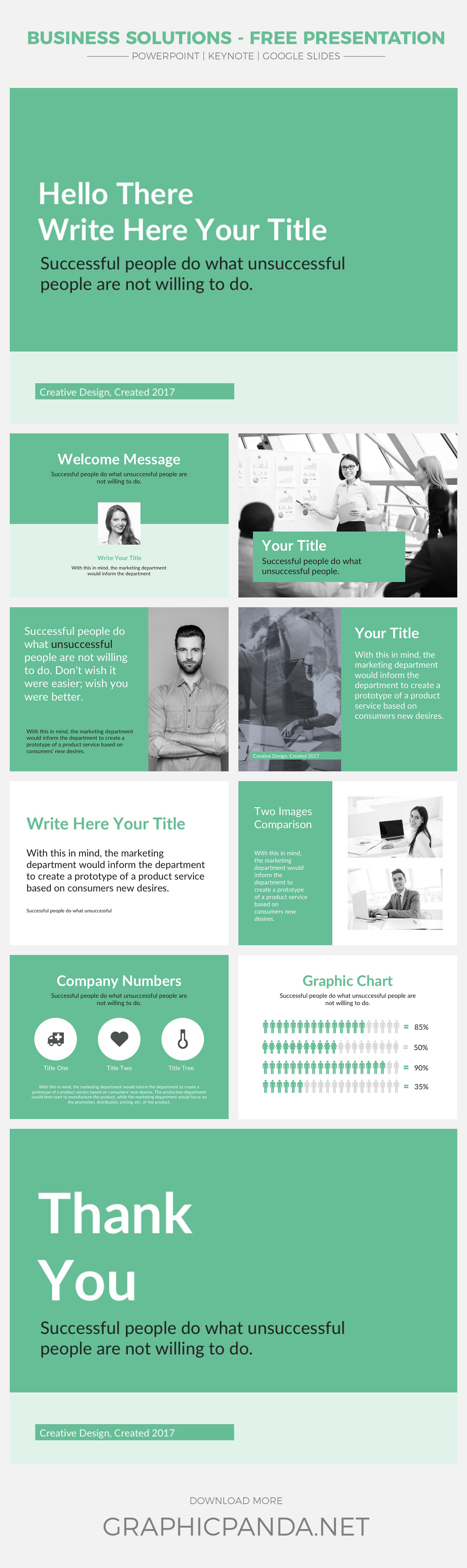 This free Business Solutions PowerPoint Template will help you influence your audience, clients and potential investors to take the action in the direction you are expecting. This template comes with many digital assets to make a clean and modern business presentation.