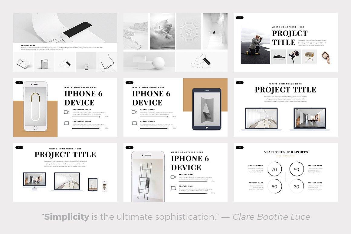 Best Minimalist PowerPoint Template Best Minimal Keynote Themes Best Google Slides Themes