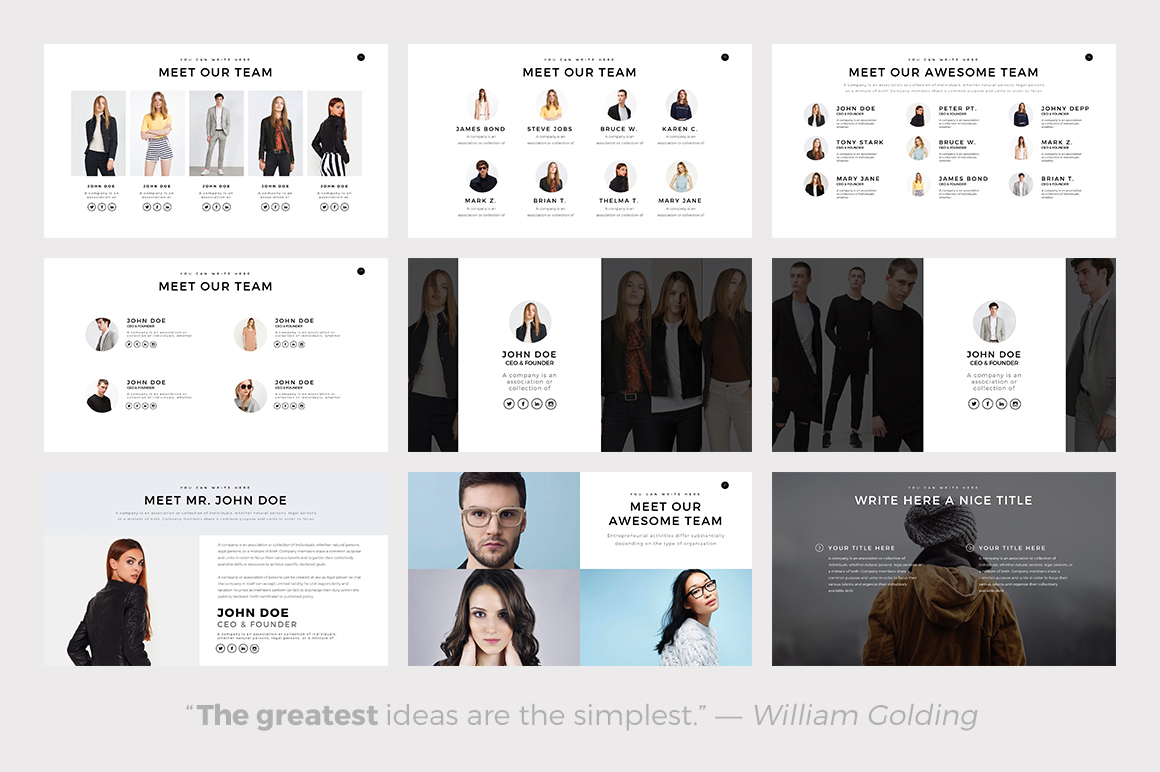 Best Minimalist PowerPoint Template — Best Minimalist Keynote Theme — Best Minimalist Google Slides Themes