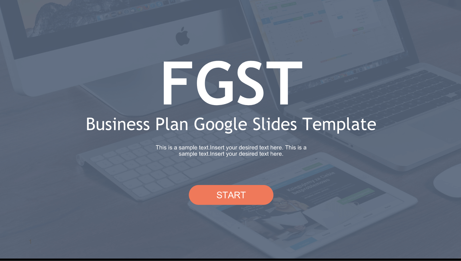 A free Google Slides template