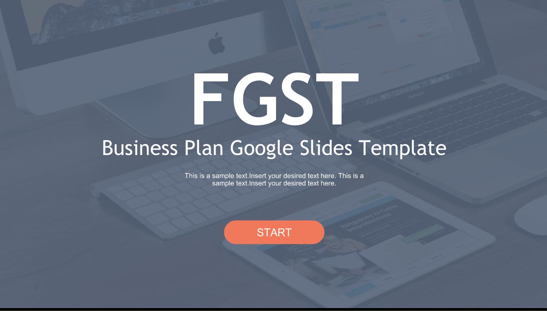 A free Google Slides template