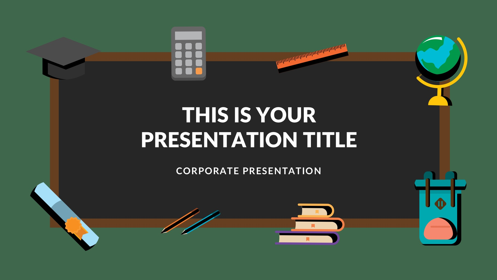 Blackboard Free Google Slides Theme