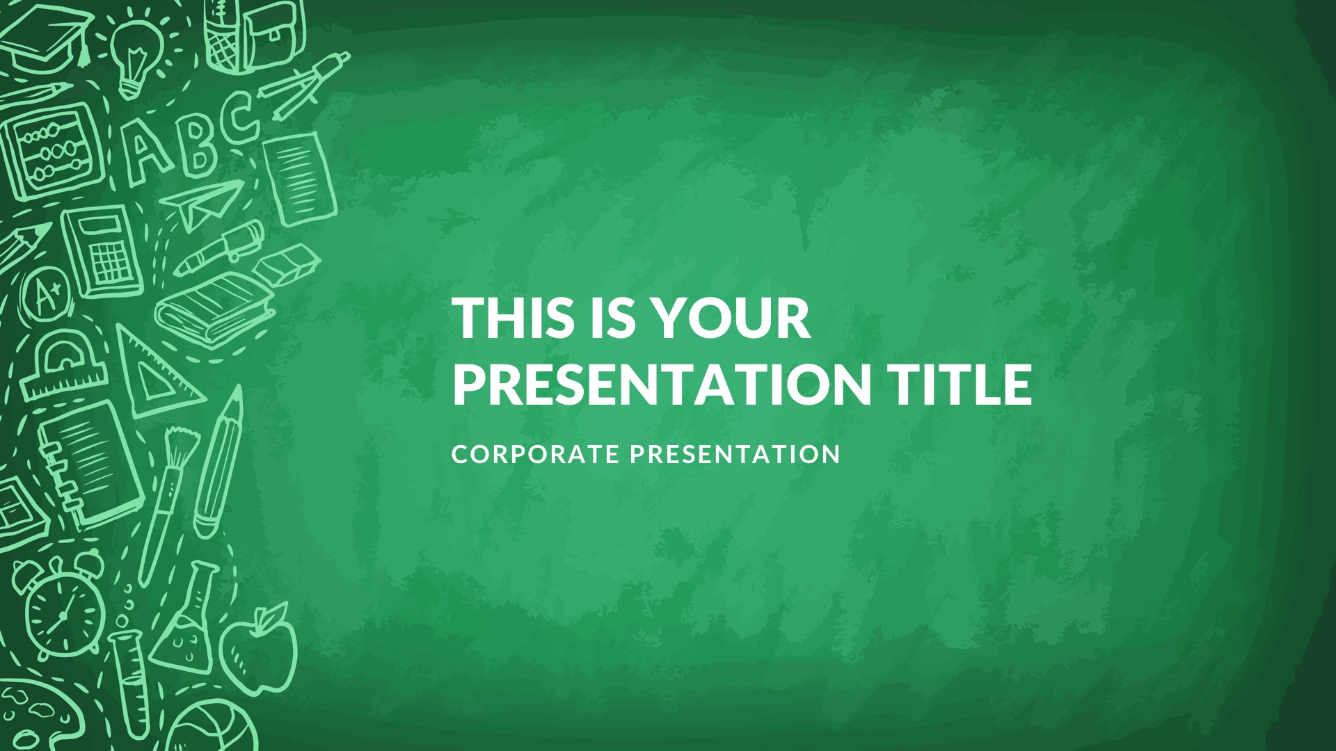 Greenboard Free PowerPoint Template, Google Slides, Keynote