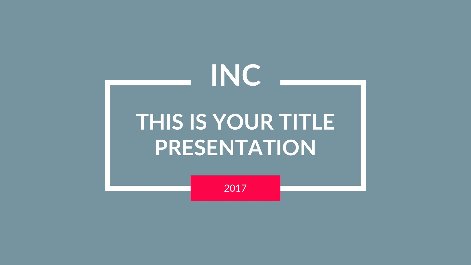 Inc Free PowerPoint Template