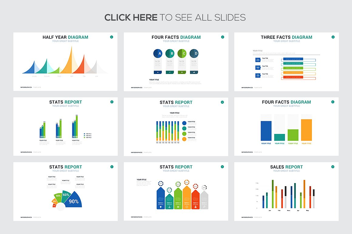 Statistic Demographic Infographics Templates - PowerPoint Templates - Keynote Themes - Google Slides
