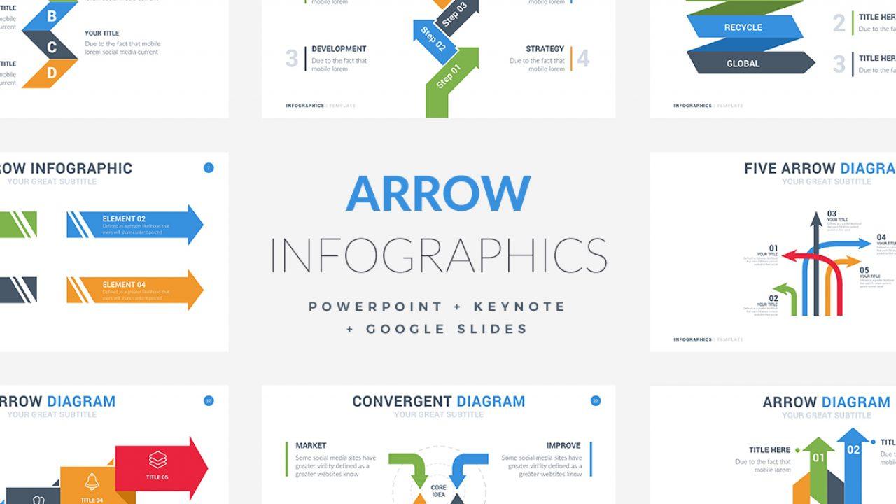 35 Arrow Infographic Template Powerpoint Keynote Google