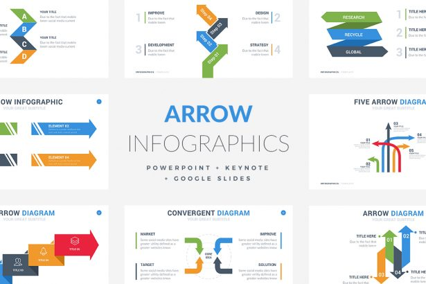 Arrow Infographic Templates - PowerPoint Templates - Keynote Themes - Google Slides.psd