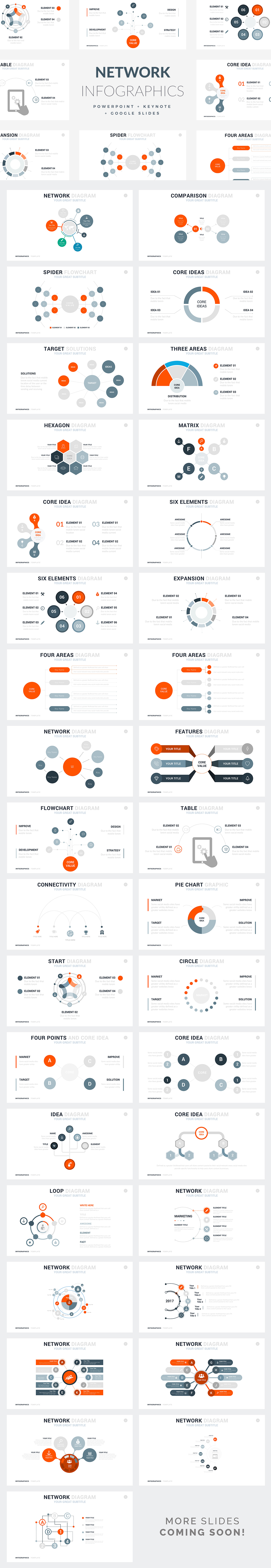 Network Infographics Templates - PowerPoint Templates - Keynote Themes - Google Slides.psd