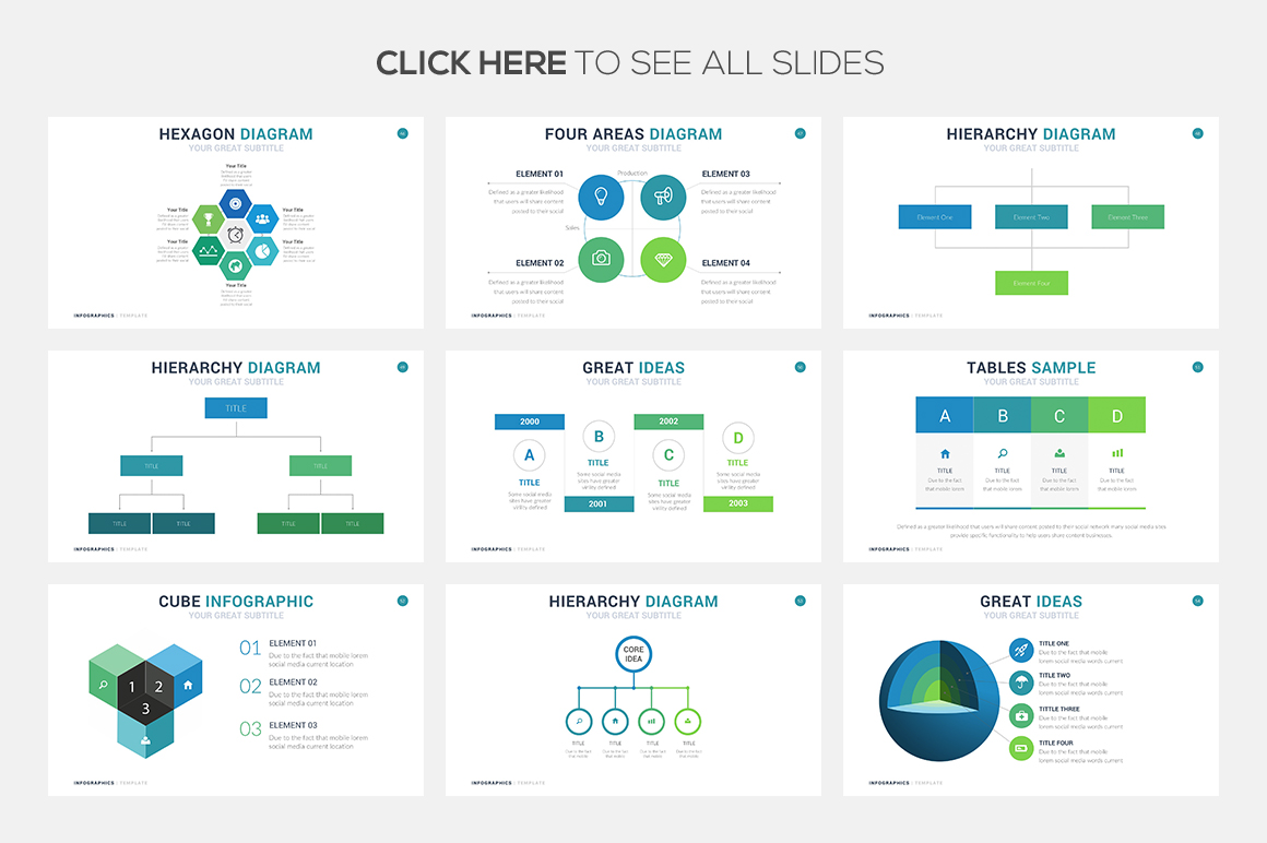 Business Infographic Template - PowerPoint Template - Keynotes Themes - Google Slides