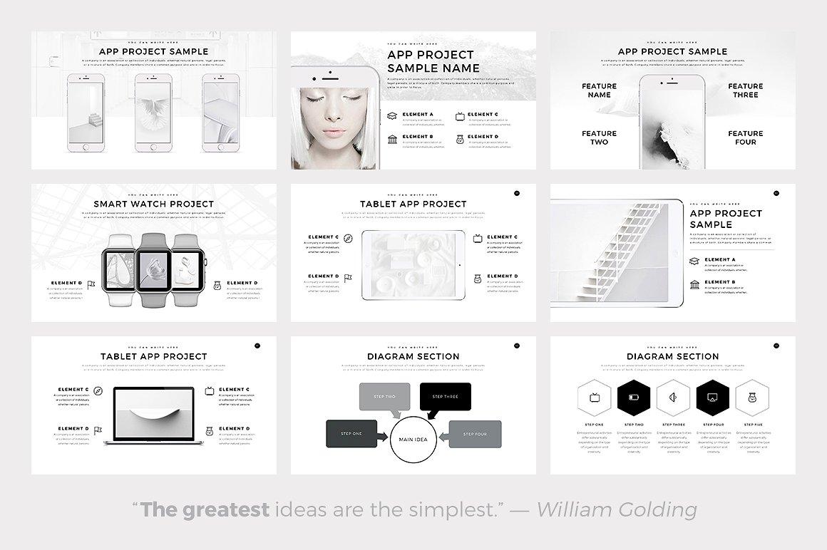 Neue Minimal - PowerPoint Templates - Keynote Themes - Google Slides