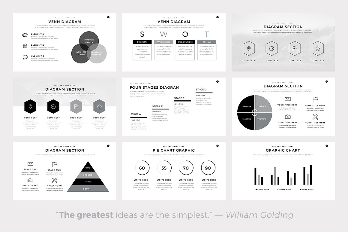 Neue Minimal - PowerPoint Templates - Keynote Themes - Google Slides