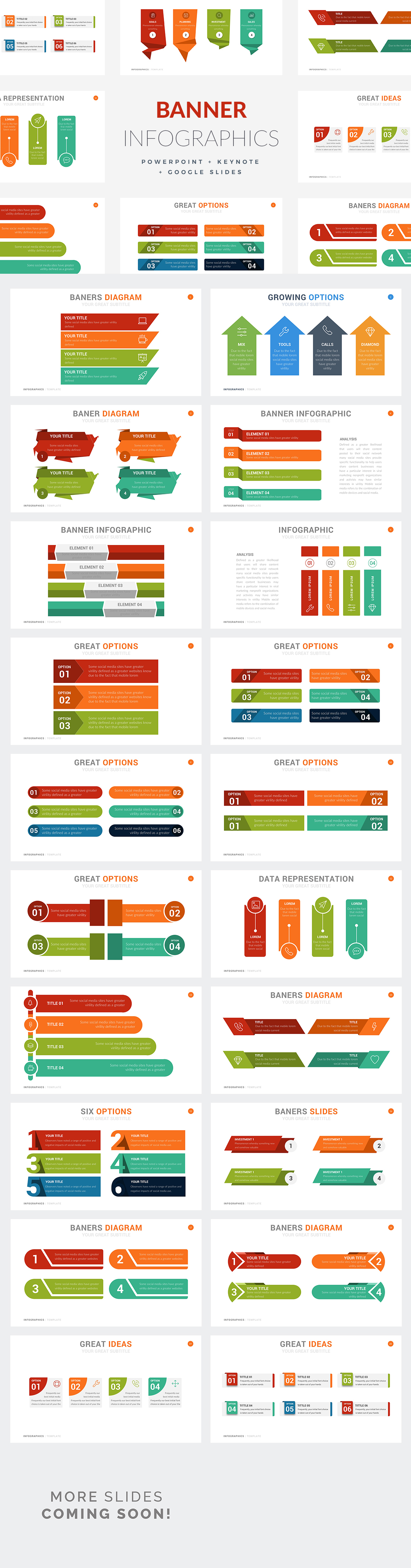 Banner Infographic Templates - PowerPoint Templates - Keynote Themes - Google Slides