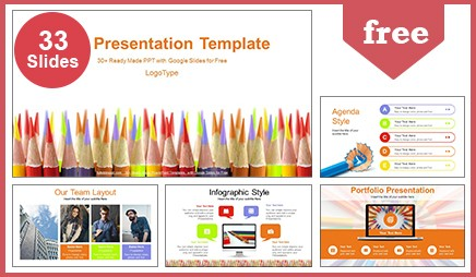 Colored Pencils Education Google Slides