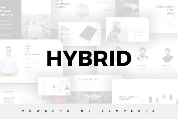 Hybrid Minimal Templates - PowerPoint Templates - Keynote Themes - Google Slides