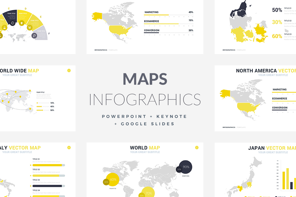 Maps Infographics Templates - PowerPoint Templates - Keynote Themes - Google Slides.psd