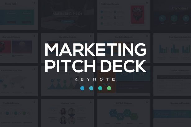 Marketing Pitch Deck - PowerPoint Templates - Keynote Themes - Google Slides