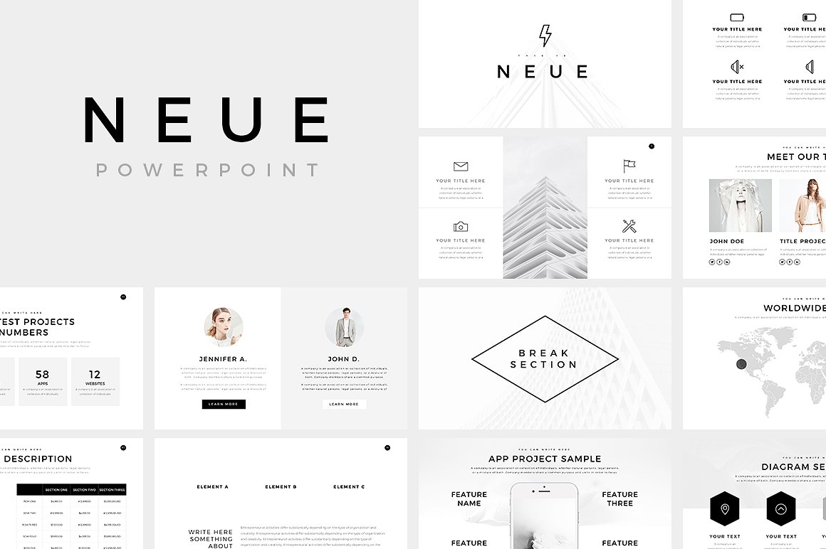 neue minimal powerpoint template