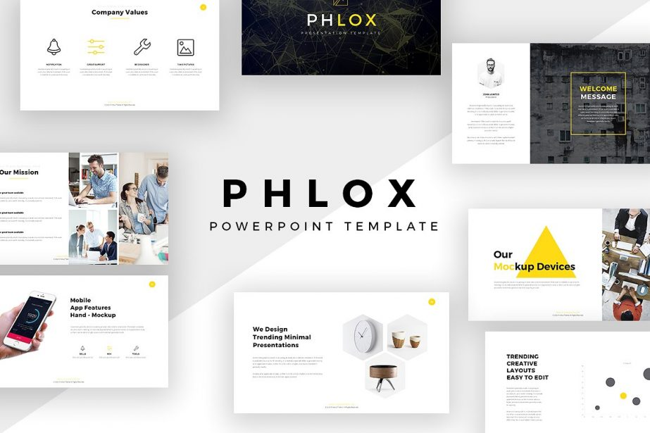Phlox Minimal - PowerPoint Templates - Keynote Themes - Google Slides