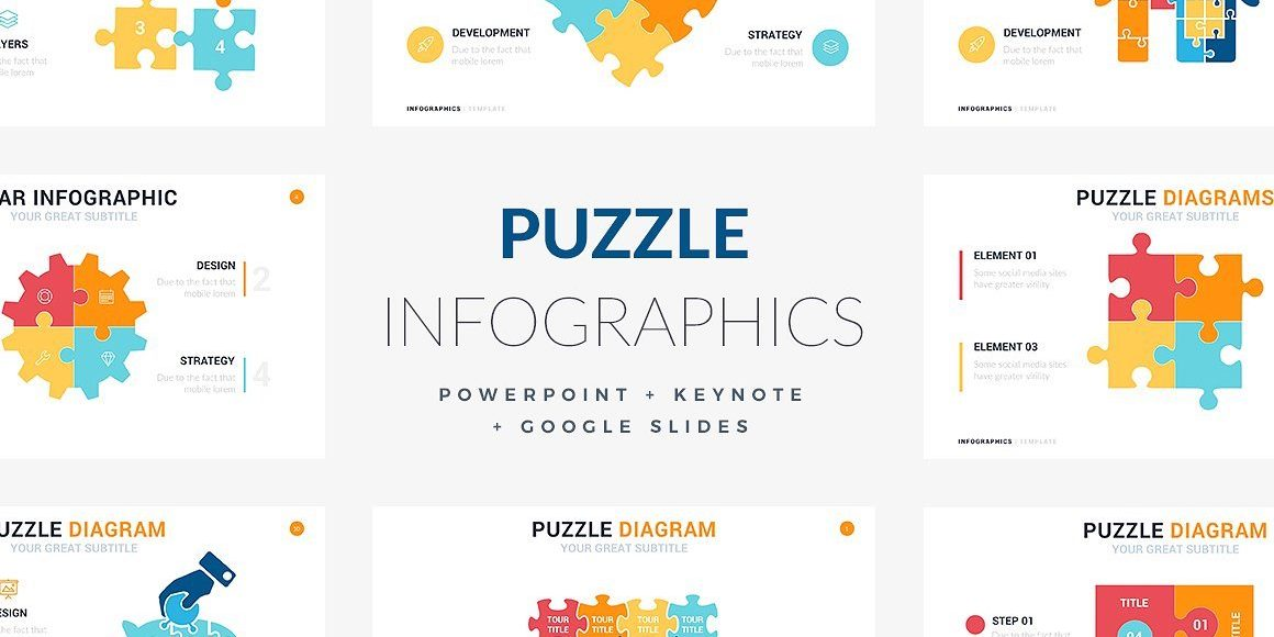 23 Puzzles Infographic Template Powerpoint Keynote Google Slides