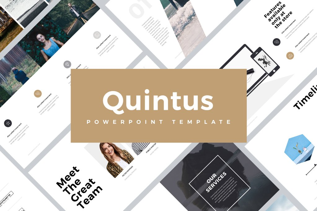 Quintus Minimal - PowerPoint Templates - Keynote Themes - Google Slides
