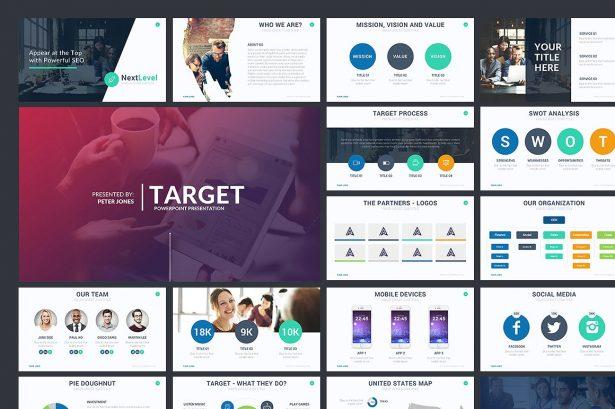 Target Minimal PowerPoint Template - Keynote Theme - Google Slides