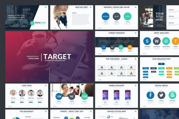 Target Minimal PowerPoint Template - Keynote Theme - Google Slides