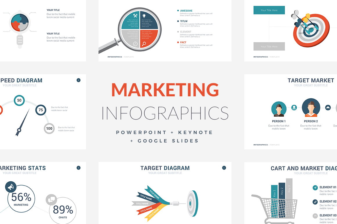 Marketing Infographic Templates PowerPoint Template, Keynote Themes, Google Slides