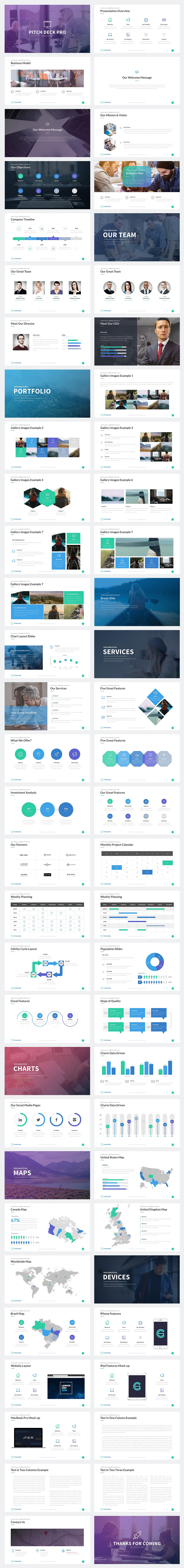 Pitch Deck Pro Minimal Templates - PowerPoint Templates - Keynote Themes - Google Slides