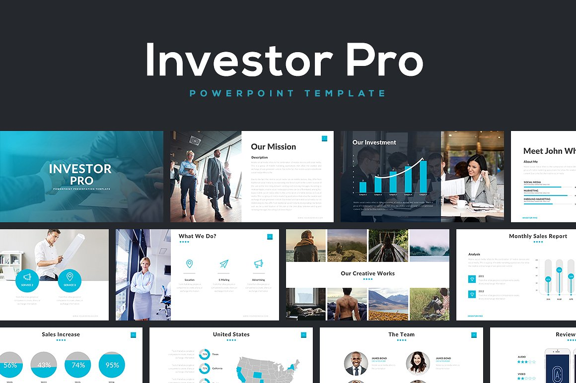 Investor Pro - PowerPoint Templates - Keynote Themes - Google Slides