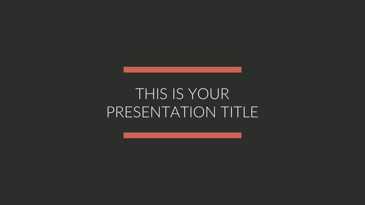 Black Google PowerPoint Theme