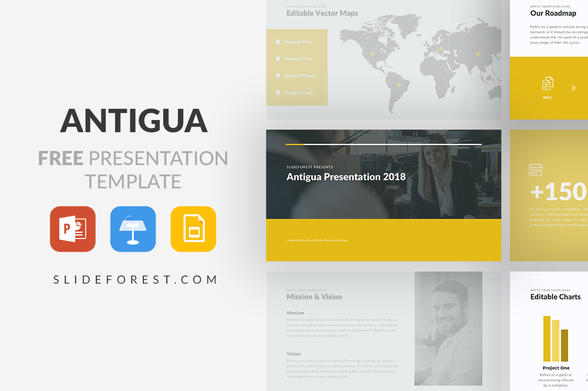 antigua free powerpoint template  keynote theme  and