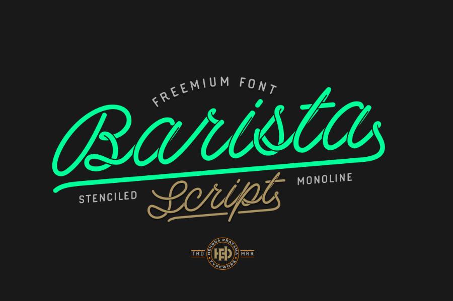 Barista Free Font