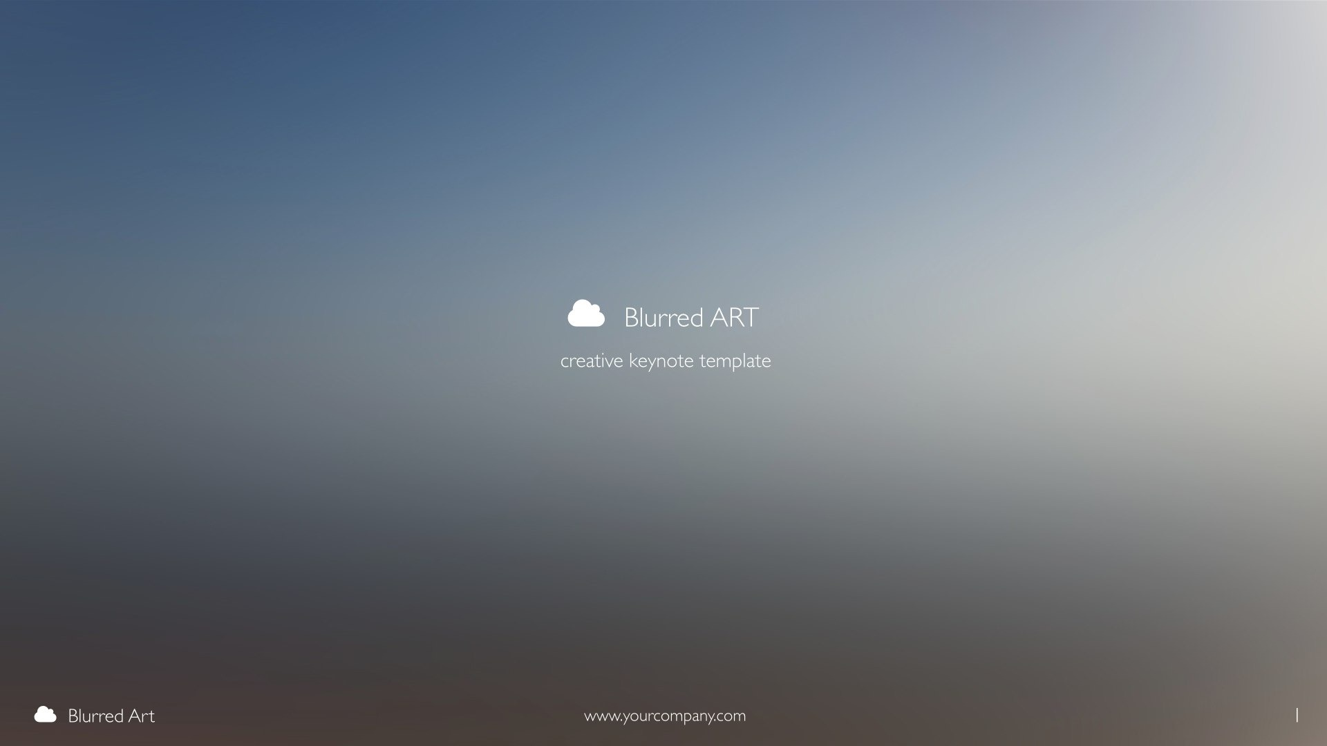 Blurred Art - Creative Keynote Template