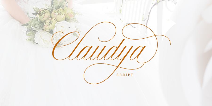 Claudya Script Free Font