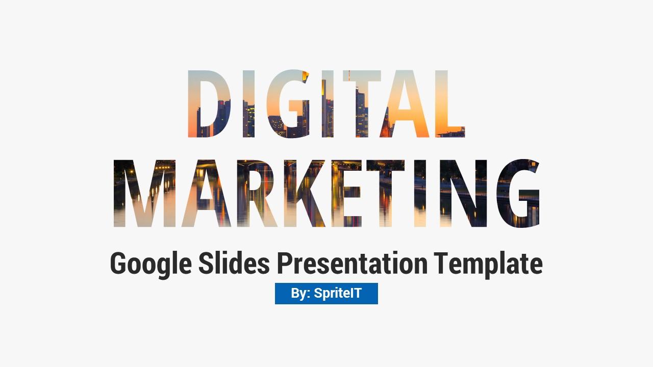 Digital Marketing and Social Media Google Slides Pitch Deck