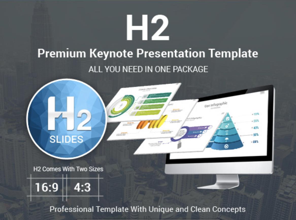 H2 Premium Keynote Presentation Template