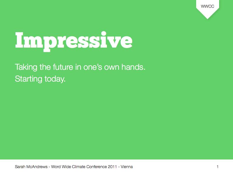 Impressive Keynote template
