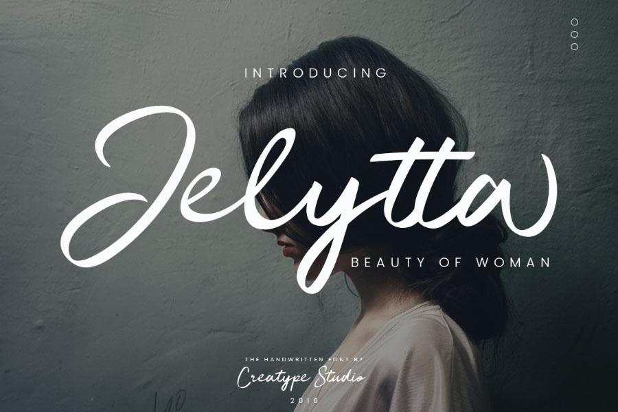 Jelytta Script Font Demo